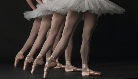 Matching Ballet Tights With Pointe Shoes